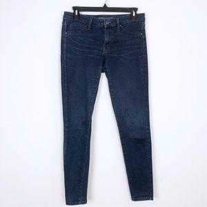 Mossimo Dark Wash Mid-Rise Denim Leggings Size 4